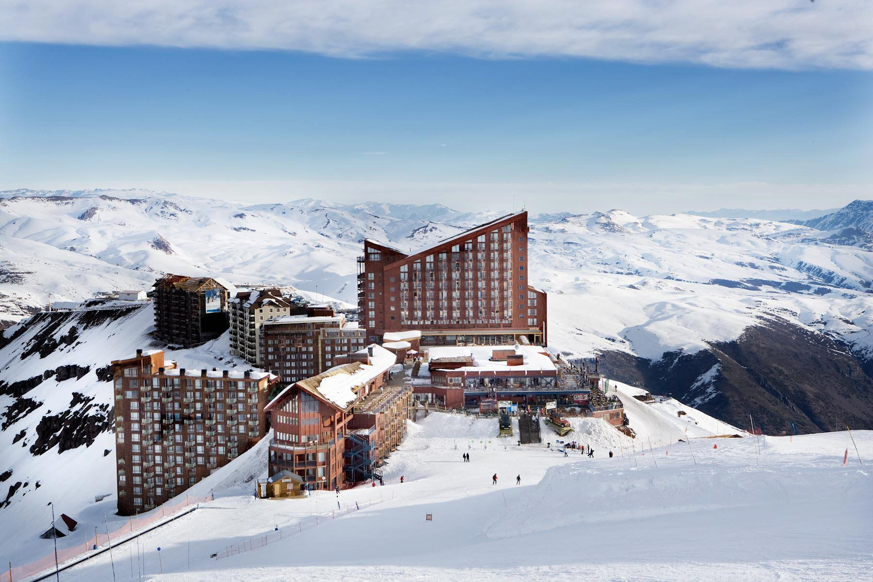 vista de hotel no valle nevado