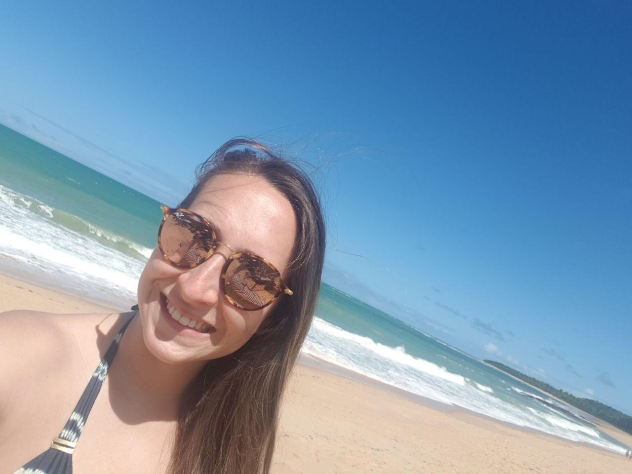 isabelle na praia rio verde em trancoso