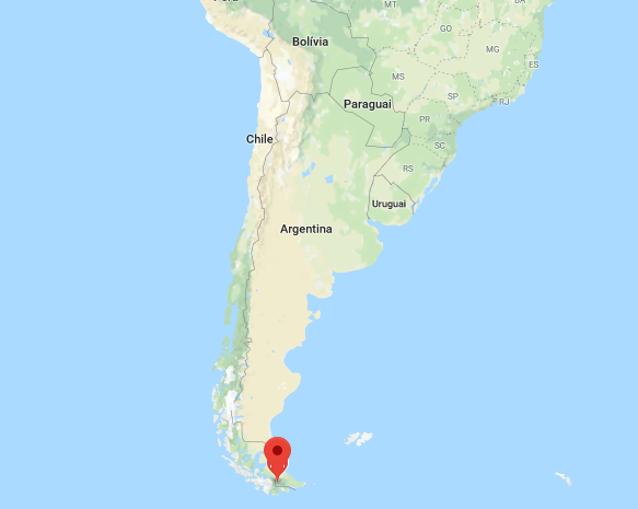 localização da cidade de ushuaia